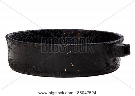 Old Frying Pan Isolated On White Background