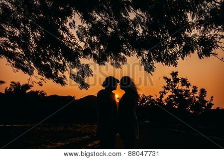 Honeymoon Couple Silhouette