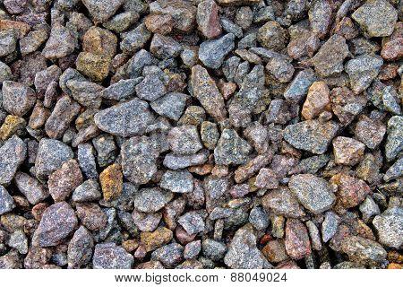 background of   gray gravel