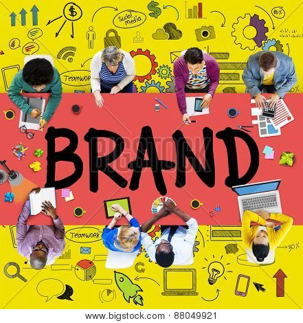 Brand Branding Connection Idea Technology Concept