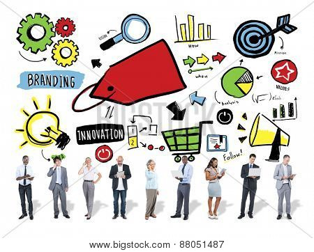 Business People Branding Marketing Digital Communication Concept