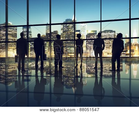 Business People Corporate Aspiration Office Cityscape Goal Concept