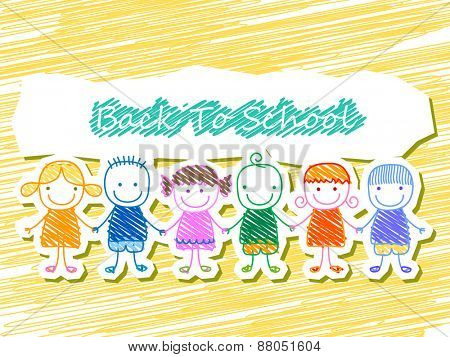 group of kids, back to school