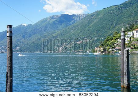 The Lake Maggiore in Switzerland