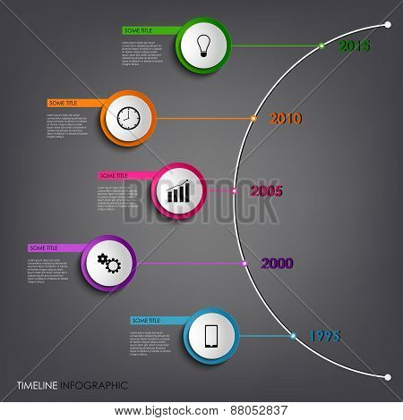 Time Line Info Graphic Colored Abstract Round Template