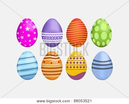 Digitally generated Easter eggs vector