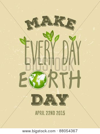 Digitally generated Earth day vector