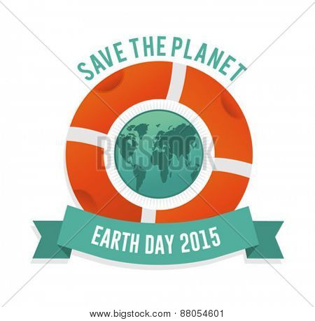 Digitally generated Save the planet earth day