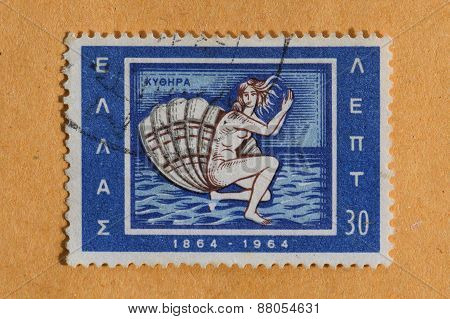 Birth Of Venus Postage Stamp