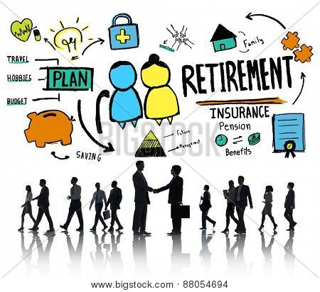 Business People Employee Retirement Partnership Discussion Concept