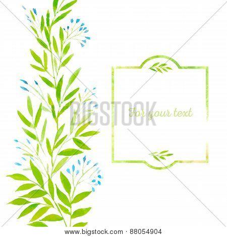 Watercolor Spring Leaves