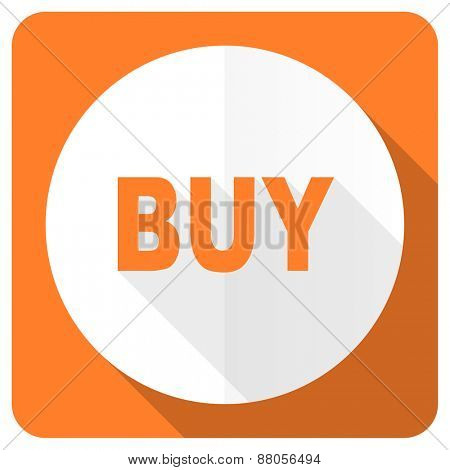 buy orange flat icon