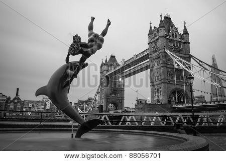 London Tower Bridge Across The River Thames