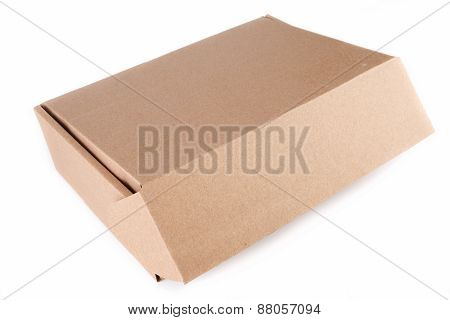 Empty cardboard box and unbranded