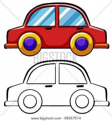 Close up doodles toy car