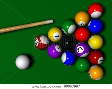 Billiard with Globe instaed of one ball