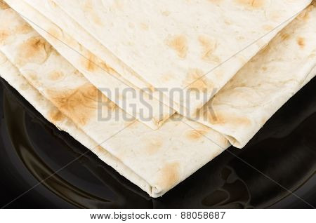 Triangle Of Thin Armenian Lavash In Plate