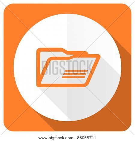 folder orange flat icon