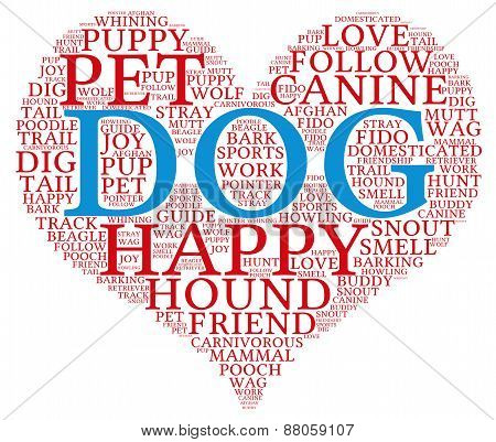 Heart Shaped Dog Word Cloud