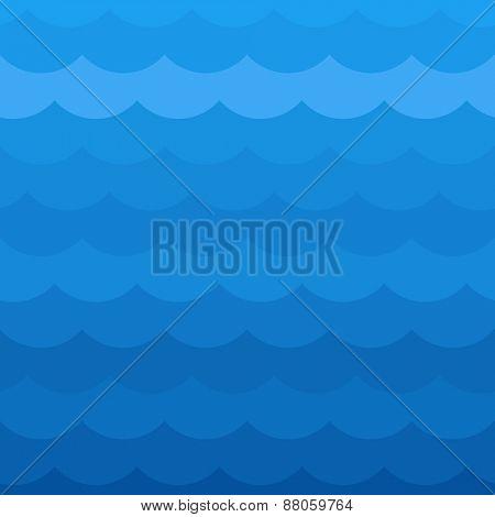 Blue wave pattern. Vector illustration