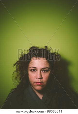 Portrait Of A Unkempt Woman