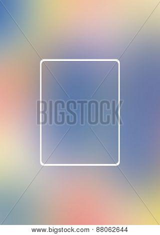 Blank Curve Rectangle, Defocus Background Beautiful Bokeh