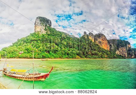 Panorama of the east Railay beach