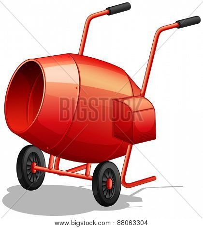 Close up classic cement mixer