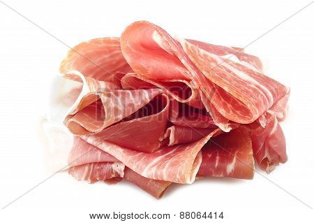 raw ham leg sliced