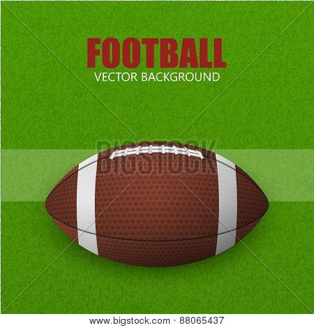 Football, Ball On A Field. Vector Background.