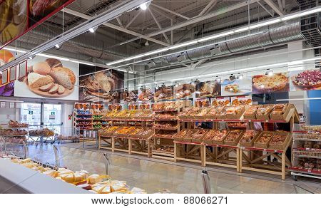 Bakery Products Ready To Sale In The New Hypermarket Magnet