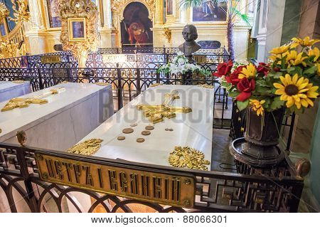 Tomb Of Peter The Great In The Peter And Paul Cathedral