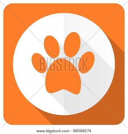 foot orange flat icon