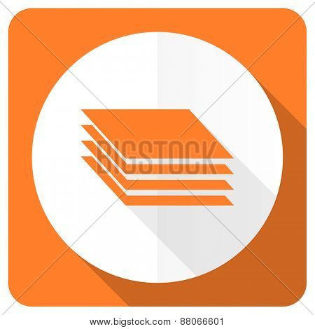 layers orange flat icon gages sign