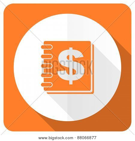 money orange flat icon