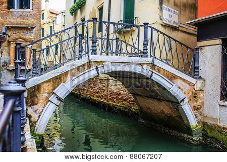 Venice, Italy - Canal and historic tenements