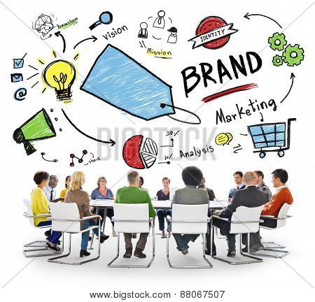 Diverse People Conference Meeting Marketing Brand Concept
