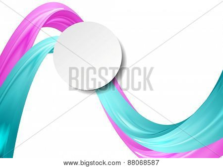 Abstract smooth wavy background. Vector design