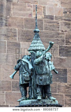 Musicians Statue In Bremen