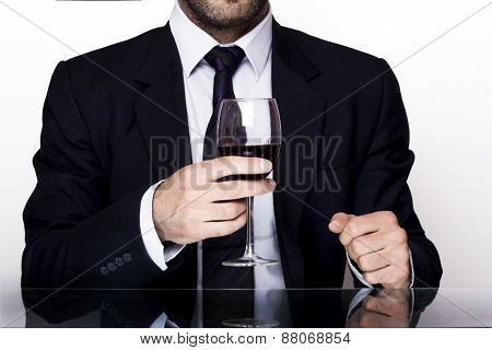 Businessman wine
