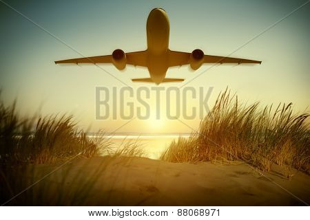 Airplane Travel Destination Outdoors Concept