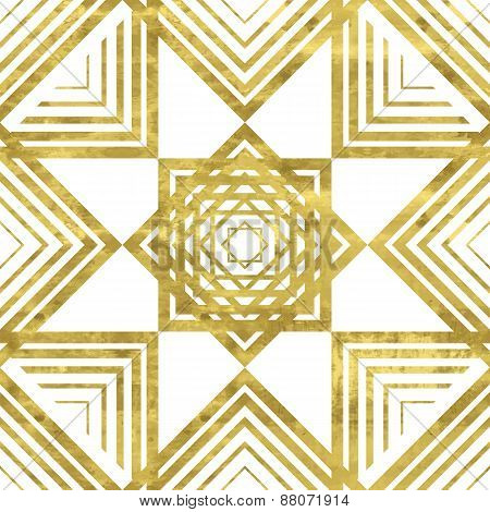 White and gold pattern