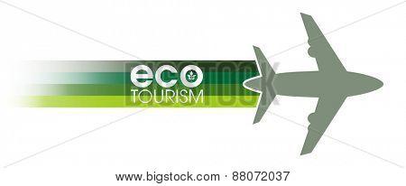 Ecotourism banner design concept.