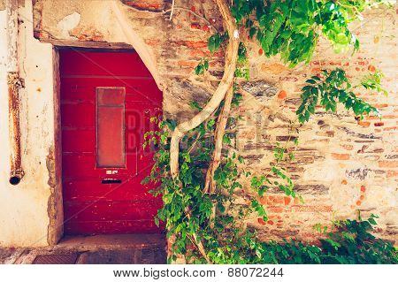 Old house facade, Provence, France
