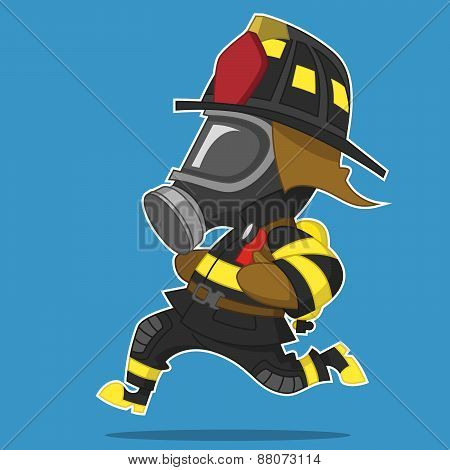 Firefighter hurry