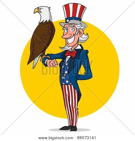 Uncle Sam and eagle