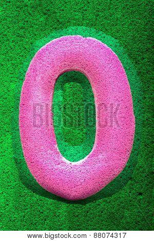 Number Zero In Pink