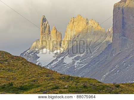 Rocky Spires In Evening Light