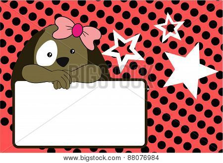 cute baby puppy girl background