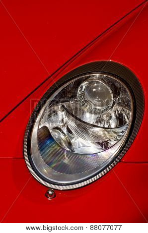 porsche car headlight